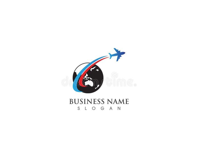 Concetto semplice dell'agenzia di logo di viaggio dell'aeroplano royalty illustrazione gratis