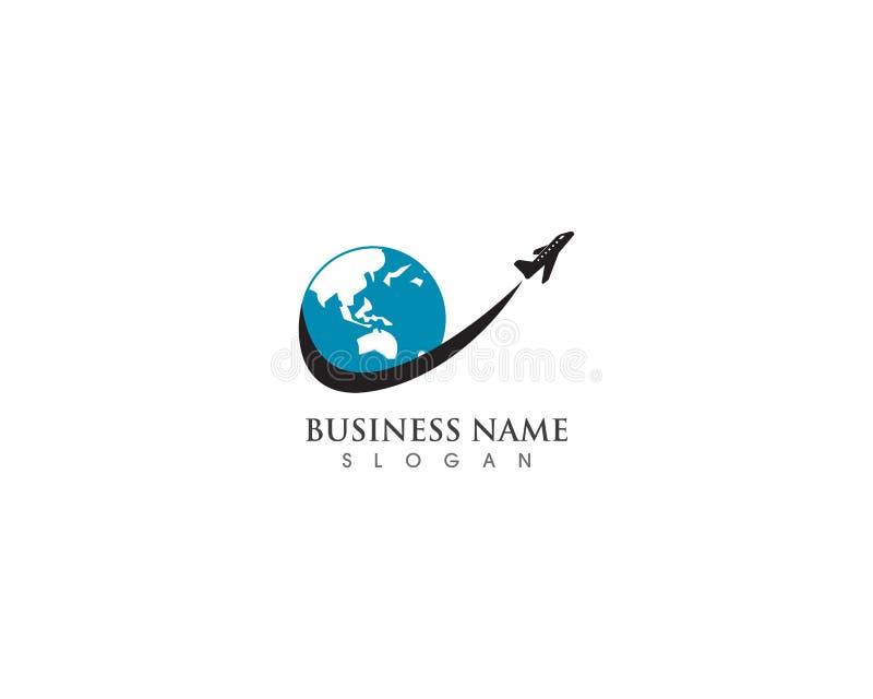 Concetto semplice dell'agenzia di logo di viaggio dell'aeroplano illustrazione di stock