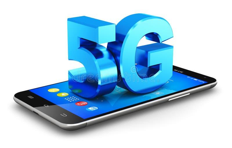 concetto senza fili di tecnologia della comunicazione 5G illustrazione vettoriale