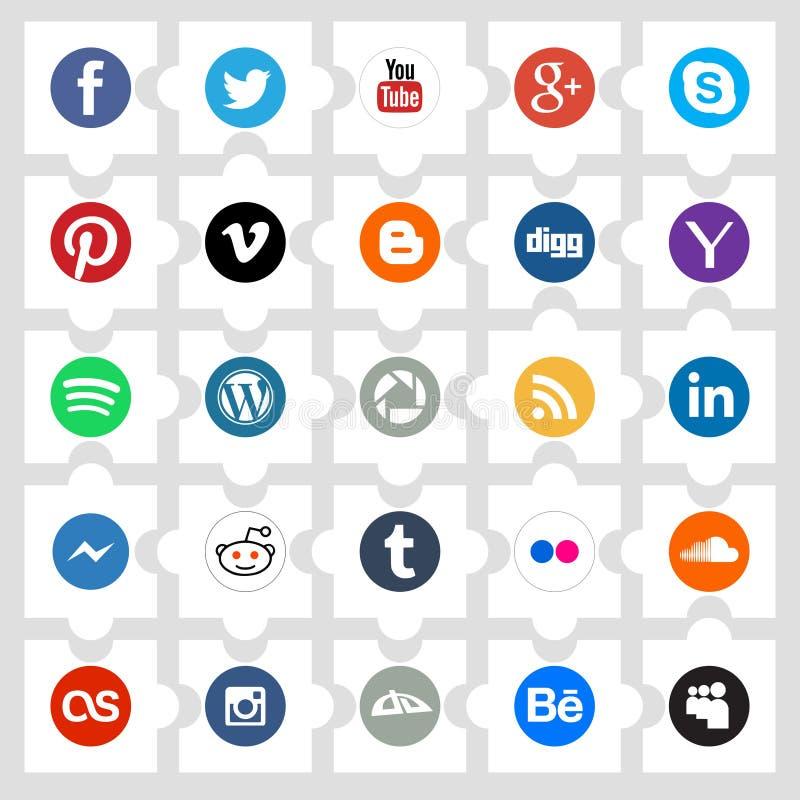 Concetto sociale del collegamento royalty illustrazione gratis