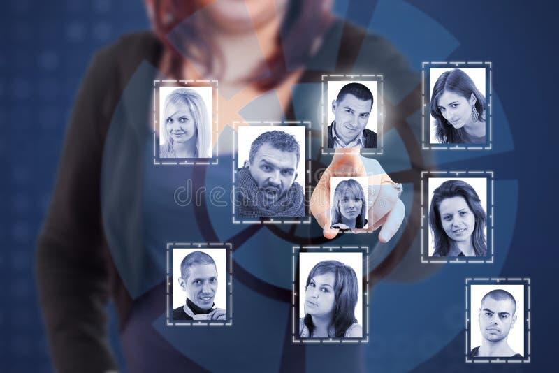 Concetto sociale della rete immagini stock