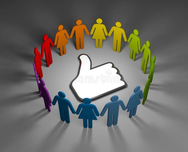 Concetto sociale della rete illustrazione di stock