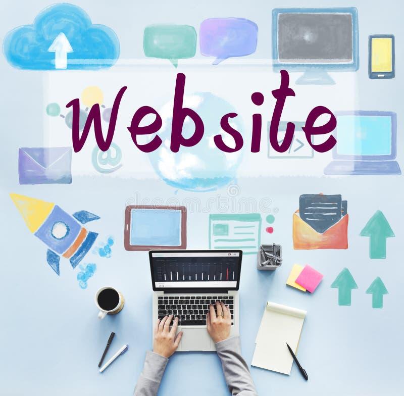 Concetto sociale della rete del collegamento di media del sito Web fotografia stock libera da diritti