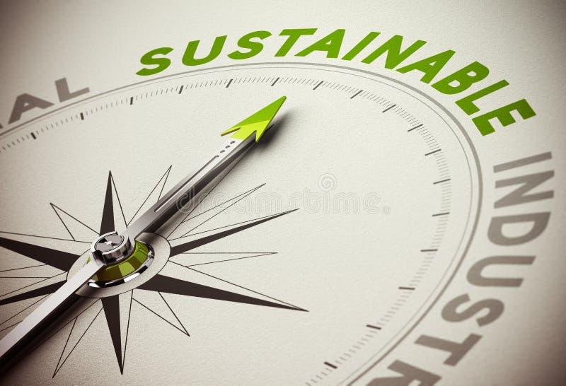 Concetto sostenibile - affare di sostenibilità illustrazione vettoriale