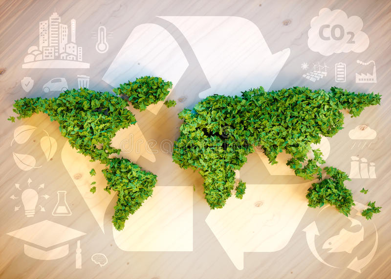 Concetto sostenibile del mondo royalty illustrazione gratis
