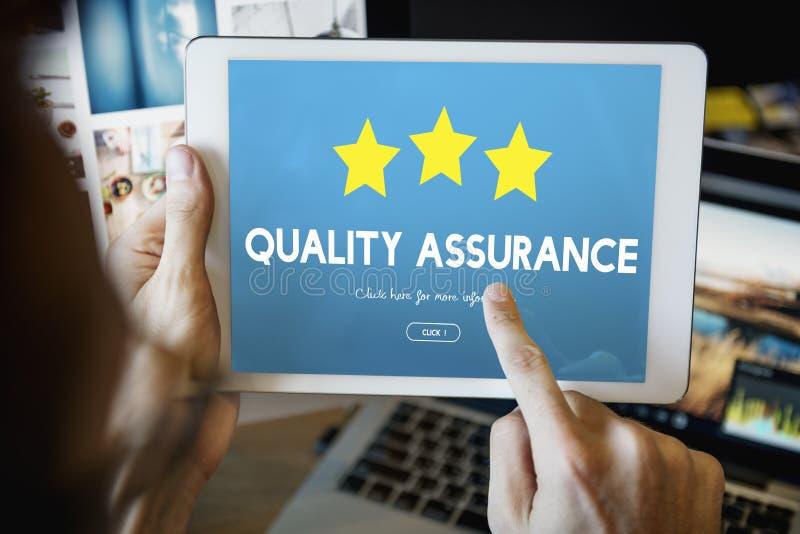 Concetto standard di assicurazione di qualità della garanzia fotografia stock libera da diritti