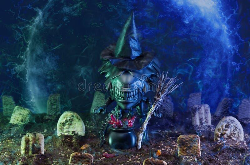 Concetto straniero di Halloween fotografia stock libera da diritti