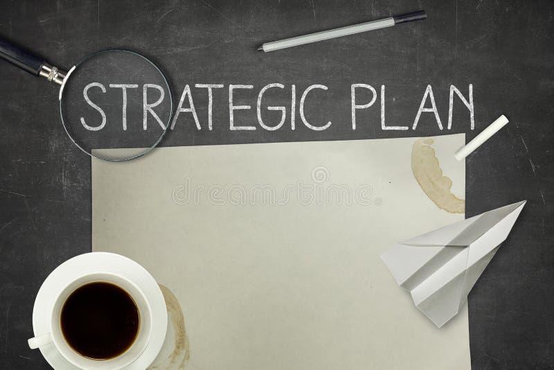 Concetto strategico di piano sulla lavagna fotografie stock libere da diritti