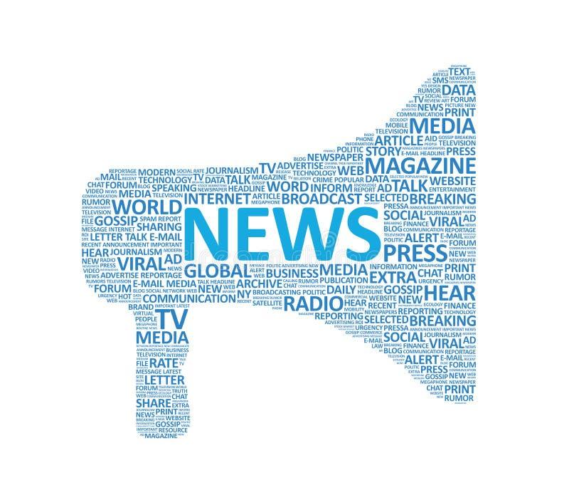 Concetto supplementare del megafono di notizie illustrazione vettoriale