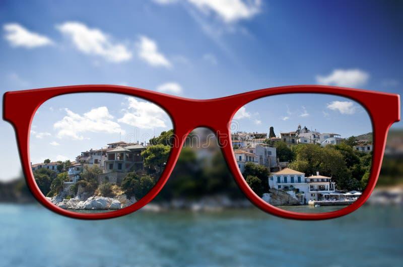 Concetto tagliente di vista Vago ed affili la vista immagini stock libere da diritti