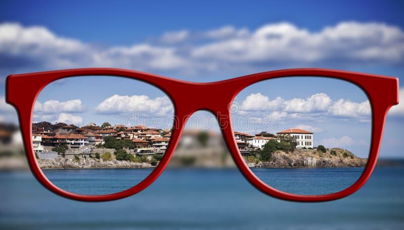 Concetto tagliente di vista Vago ed affili la vista fotografia stock