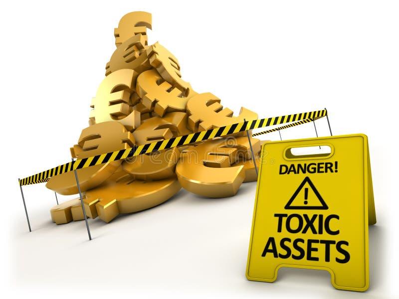 Concetto tossico dei beni illustrazione di stock