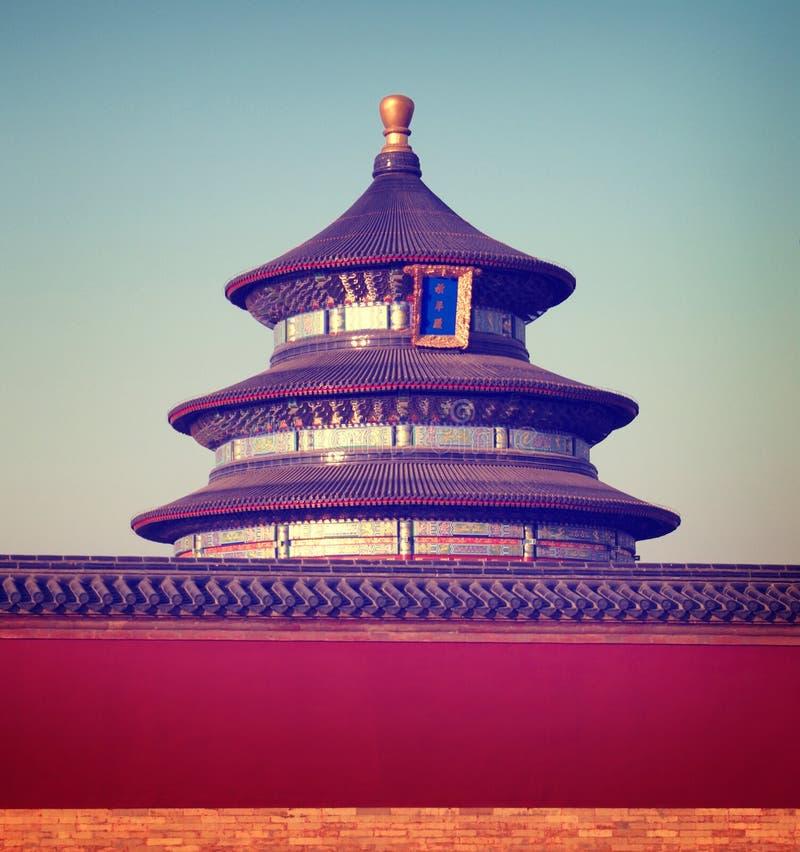 Concetto tradizionale delle destinazioni di viaggio della cultura del tempio cinese immagine stock