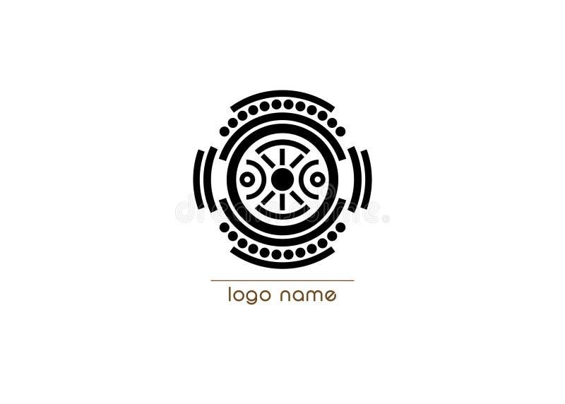 Concetto tribale di etnia indigena di logo di vettore, concetto della nuvola di parola di diversità culturale isolato su fondo bi illustrazione vettoriale