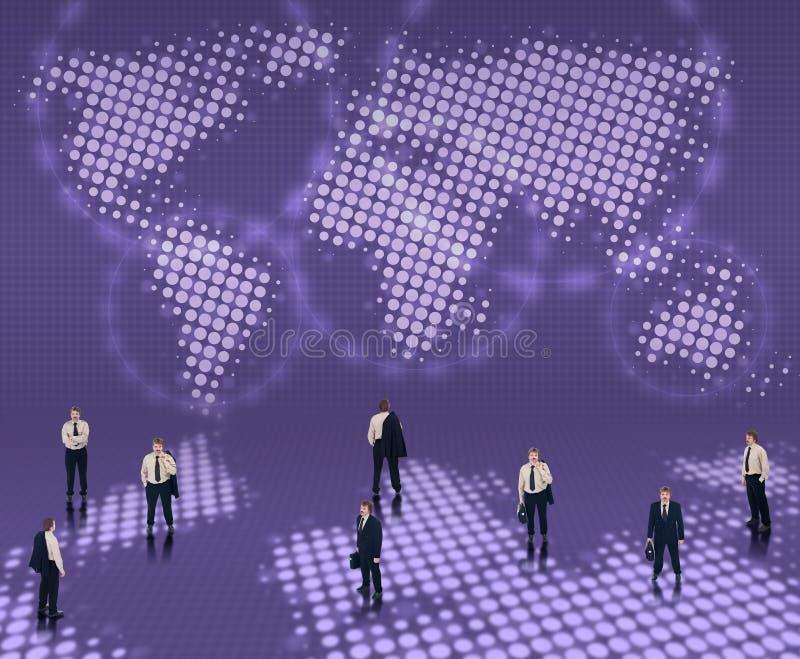 Concetto in tutto il mondo di affari illustrazione vettoriale