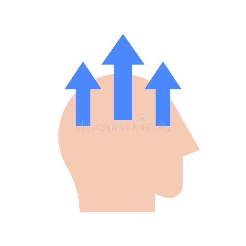Concetto umano dell'icona, di apprendimento e di istruzione di abilità di miglioramento illustrazione di stock