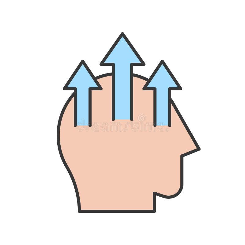 Concetto umano dell'icona, di apprendimento e di istruzione di abilità di miglioramento, e illustrazione vettoriale