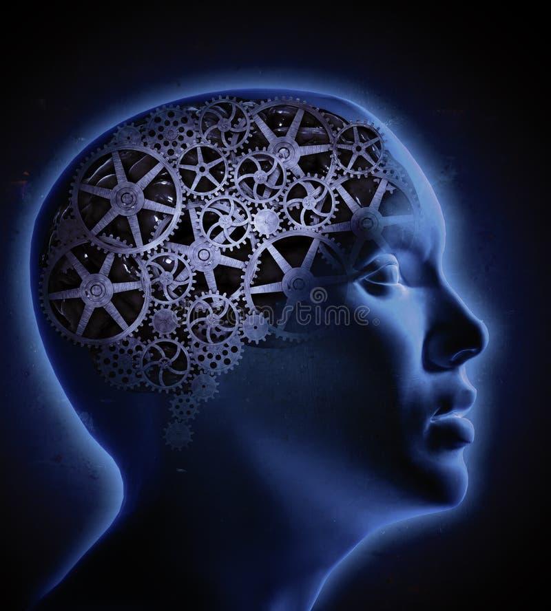Concetto umano di cognizione illustrazione vettoriale