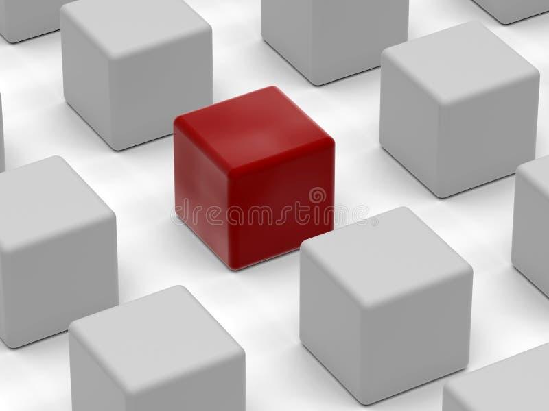 Concetto unico del cubo royalty illustrazione gratis