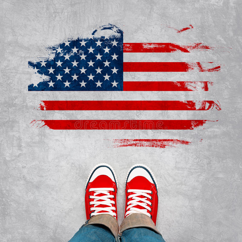 Concetto urbano americano della gioventù immagine stock libera da diritti
