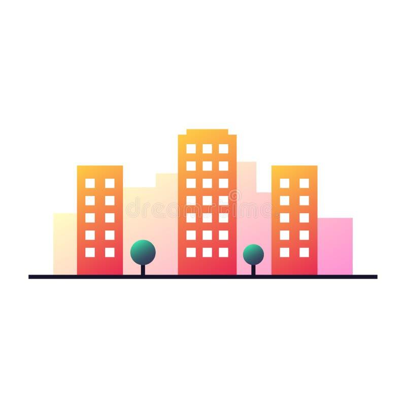 Concetto urbano del paesaggio illustrazione vettoriale
