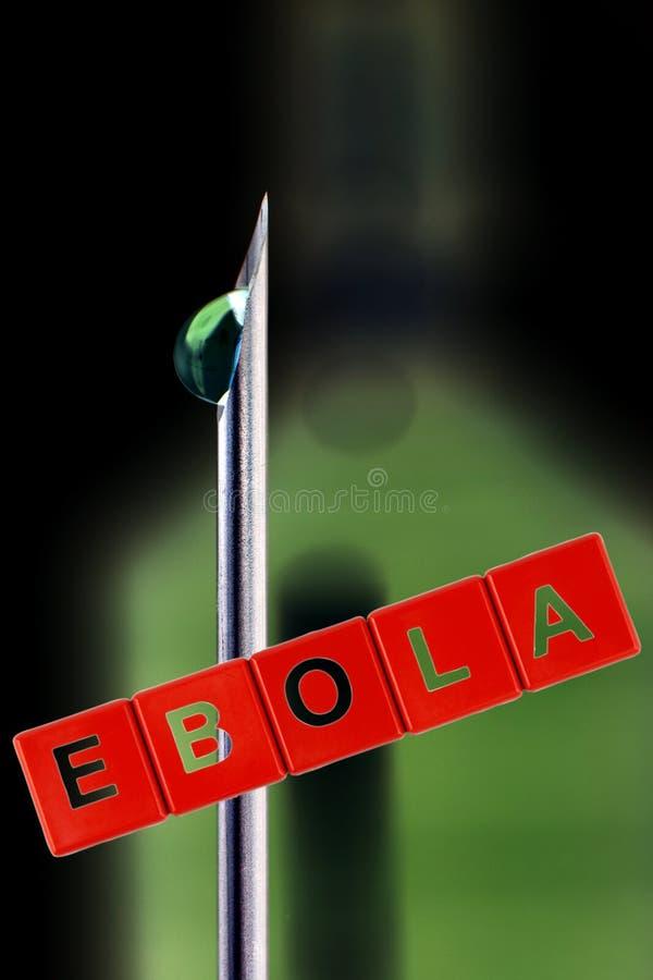 Concetto vaccino di scoperta di ebola fotografia stock