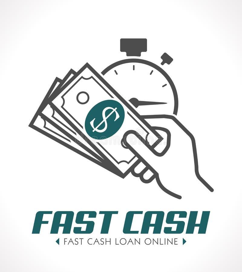 Concetto veloce dei contanti - concetto rapido di prestito illustrazione vettoriale