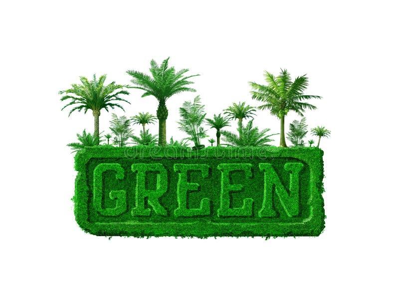 Concetto verde royalty illustrazione gratis