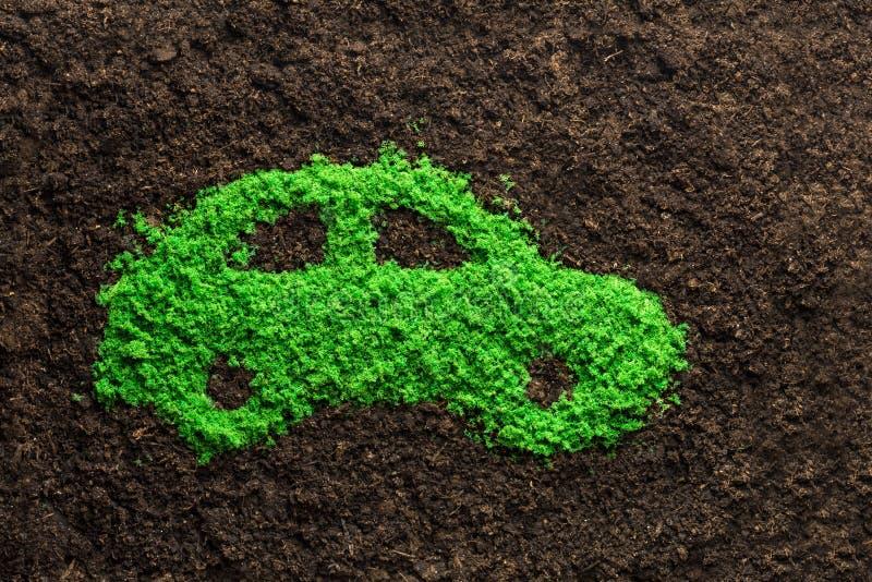Concetto verde dell'automobile di energia immagini stock
