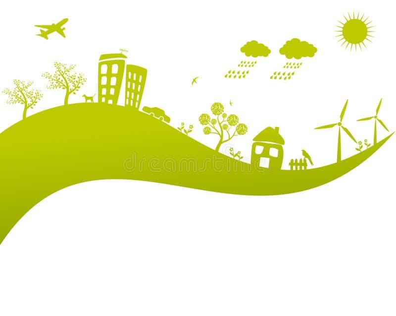Concetto verde della terra di vita illustrazione di stock
