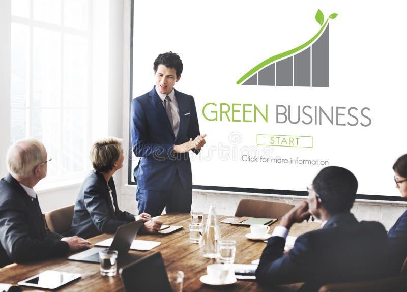 Concetto verde di Eco di responsabilità di conservazione di affari fotografia stock libera da diritti
