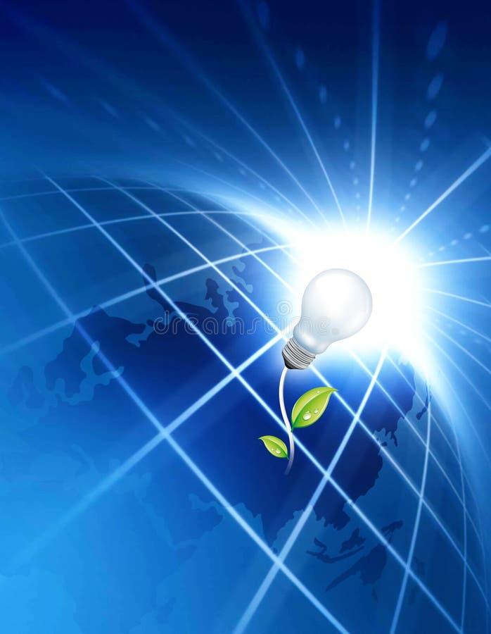 Concetto verde di energia illustrazione di stock