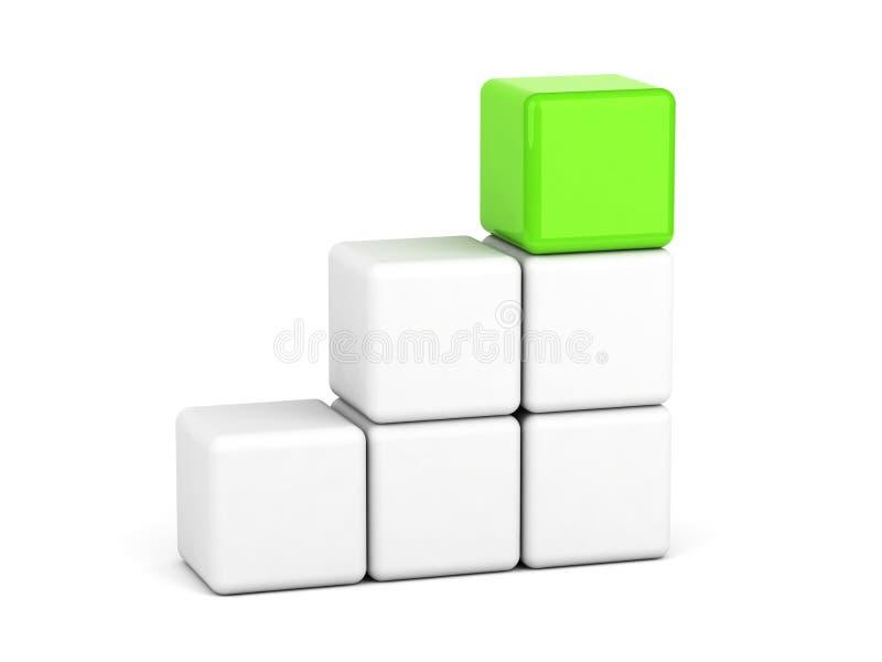 Concetto verde intenso di direzione del cubo royalty illustrazione gratis