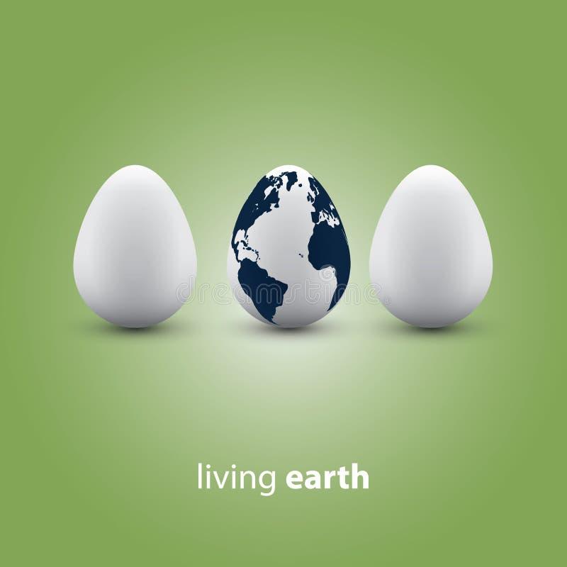 Concetto vivente della terra illustrazione vettoriale