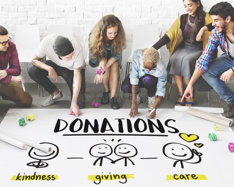 Concetto volontario senza scopo di lucro raccoglientesi fondi di donazioni di carità fotografie stock libere da diritti