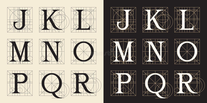 Concevant des initiales, le style de vintage, marque avec des lettres J - R illustration libre de droits