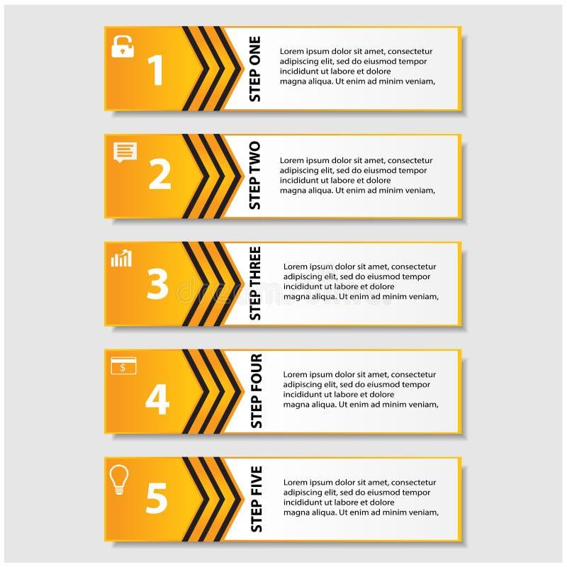 Concevez le calibre de bannières de nombre/disposition propre de graphique ou de site Web illustration libre de droits