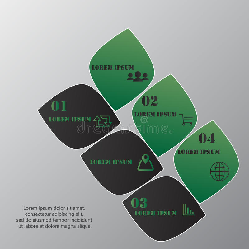 Concevez le calibre de bannières de nombre, le graphique ou la disposition propre de site Web illustration stock