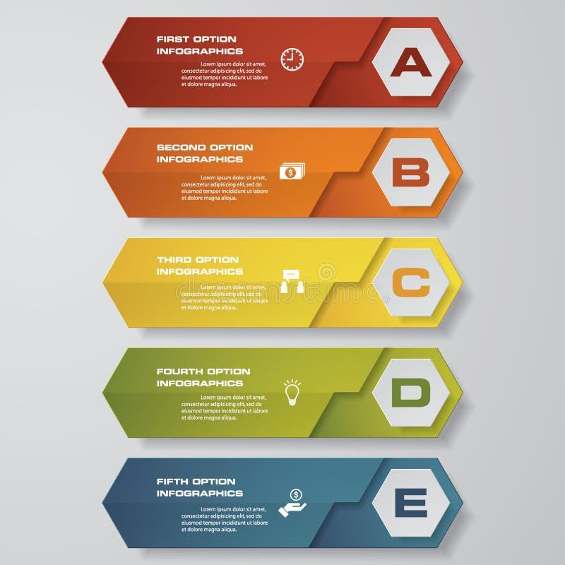 Concevez le calibre de bannières de nombre/disposition propre de graphique ou de site Web Vecteur illustration de vecteur