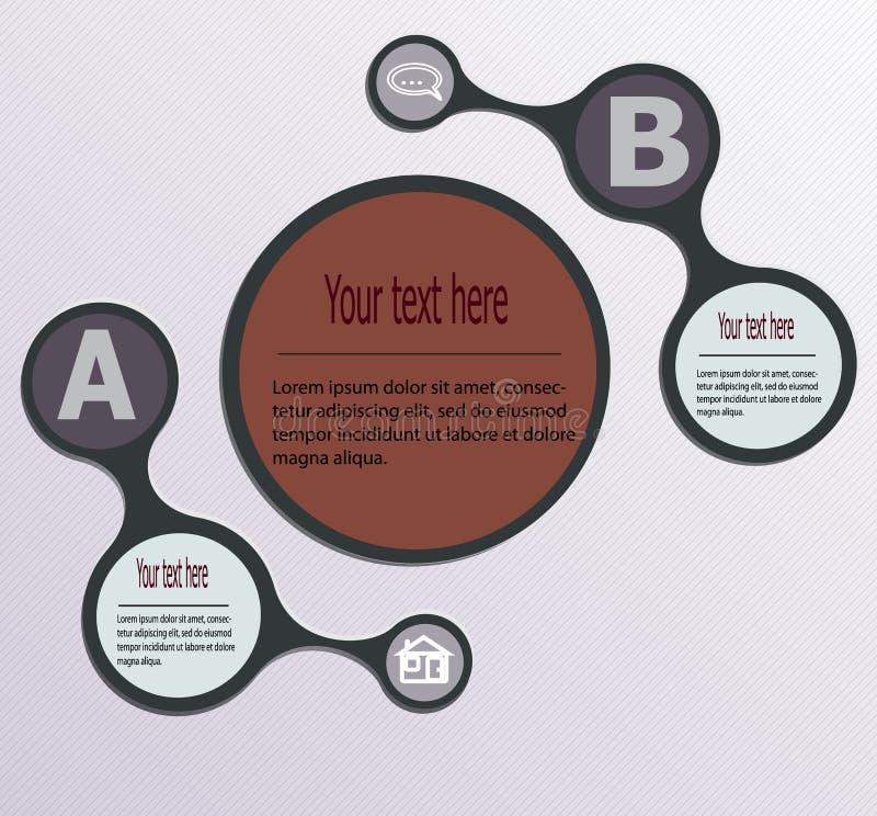 Concevez le graphique de calibre de bannières de nombre ou la disposition propre de site Web Métabolites de poligon de style illustration libre de droits