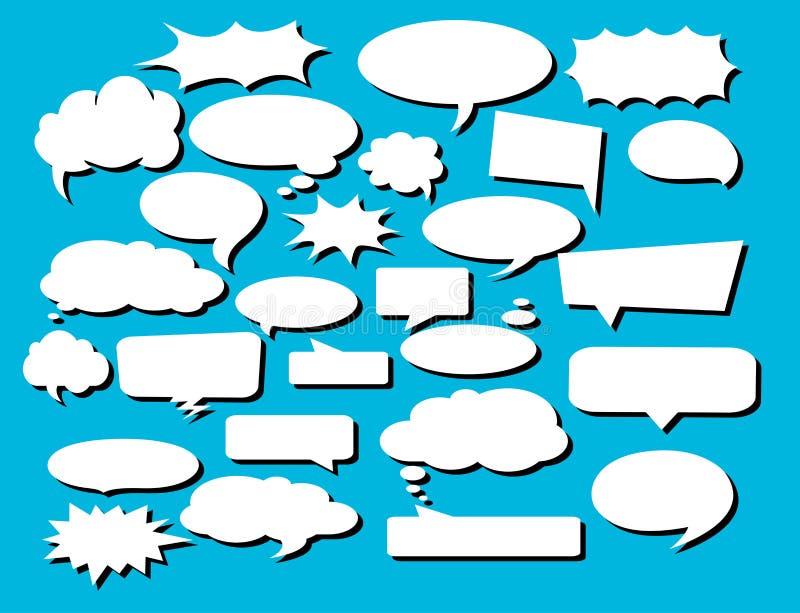 Concevez les ?l?ments pour la parole, message, r?seau social ?l?ments d'illustration et de dessins de vecteur illustration de vecteur