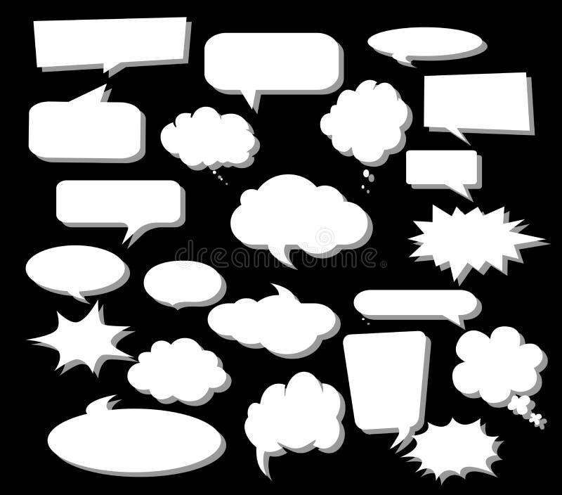 Concevez les ?l?ments pour la parole, message, r?seau social ?l?ments d'illustration et de dessins de vecteur illustration stock