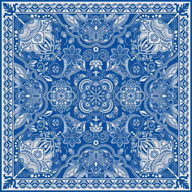 Concevez pour la poche carrée, châle, textile Modèle floral de Paisley illustration stock