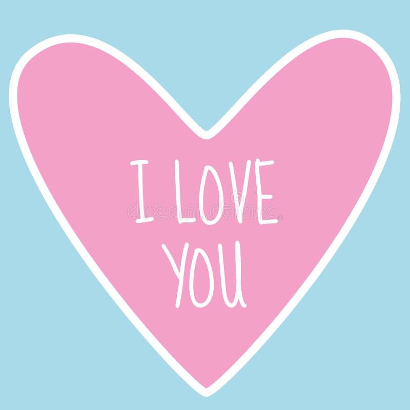 Concevez pour le Saint Valentin ou aimez la carte de décoration avec le coeur et le signe roses illustration stock