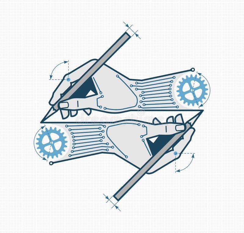 Concevoir et machiner créatives illustration stock