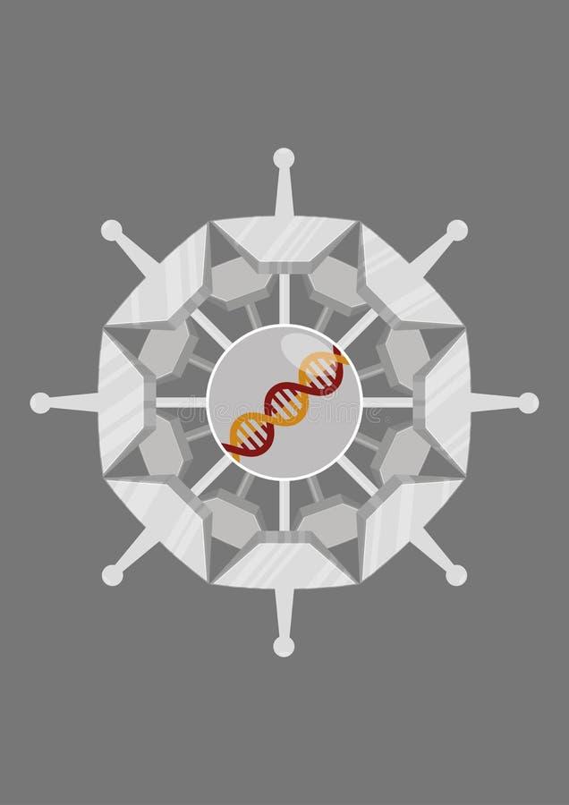 Concevoir un virus illustration de vecteur