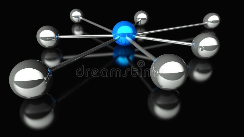 concezione 3d della rete e della comunicazione illustrazione vettoriale