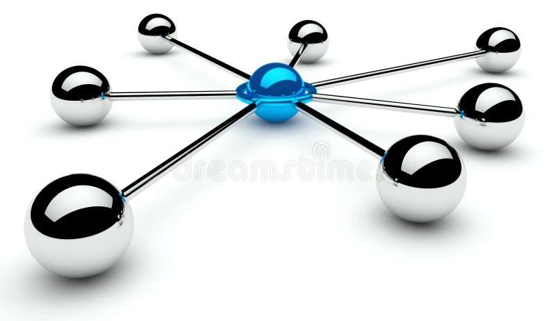 Concezione astratta della rete e della comunicazione illustrazione di stock