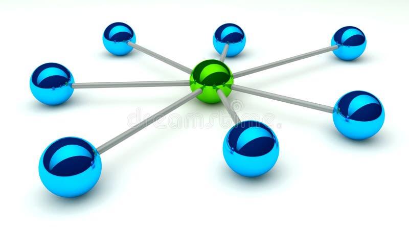 Concezione astratta della rete e della comunicazione royalty illustrazione gratis