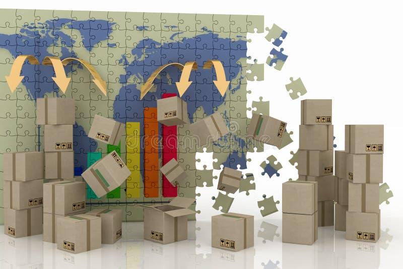 Concezione di commercio mondiale royalty illustrazione gratis